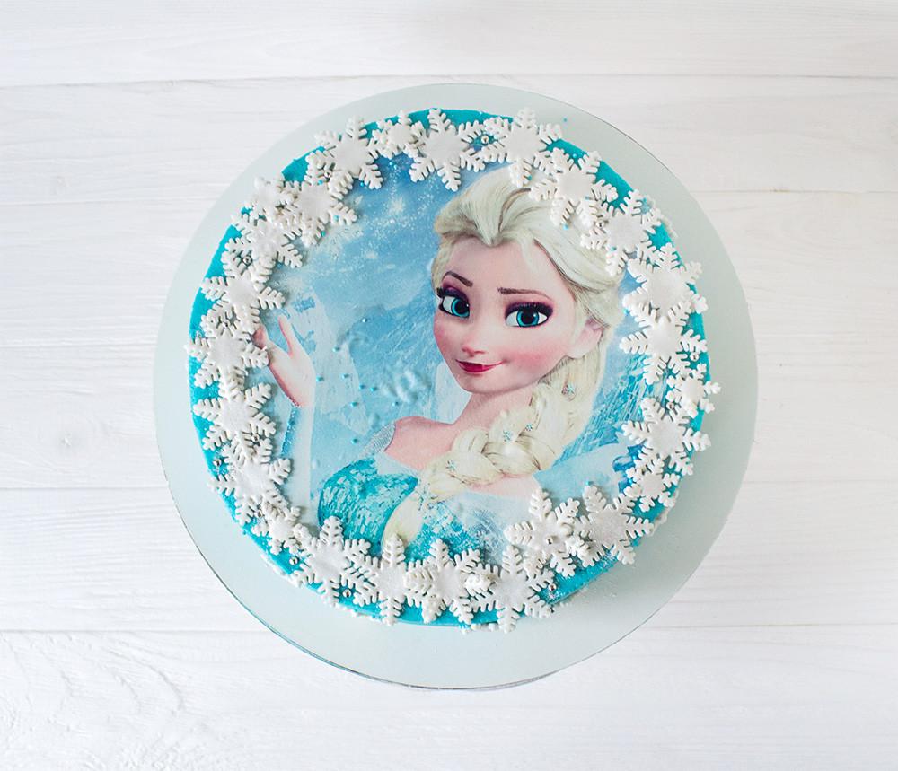 Картинка на торт из сахарной бумаги холодное сердце